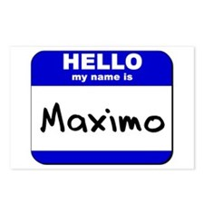 hello my name is maximo  Postcards (Package of 8)