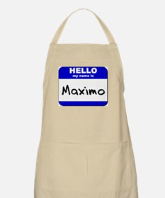 hello my name is maximo  BBQ Apron