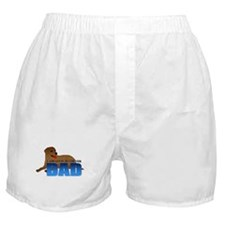 Chocolate Labrador Retriever Dad Boxer Shorts