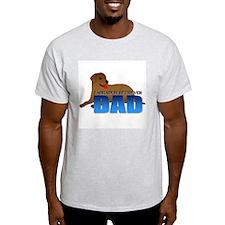 Chocolate Labrador Retriever Dad T-Shirt