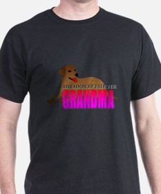 Chocolate Labrador Retriever Grandma T-Shirt