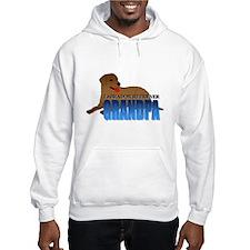 Chocolate Labrador Retriever Grandpa Hoodie