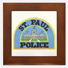 Saint Paul Police Framed Tile
