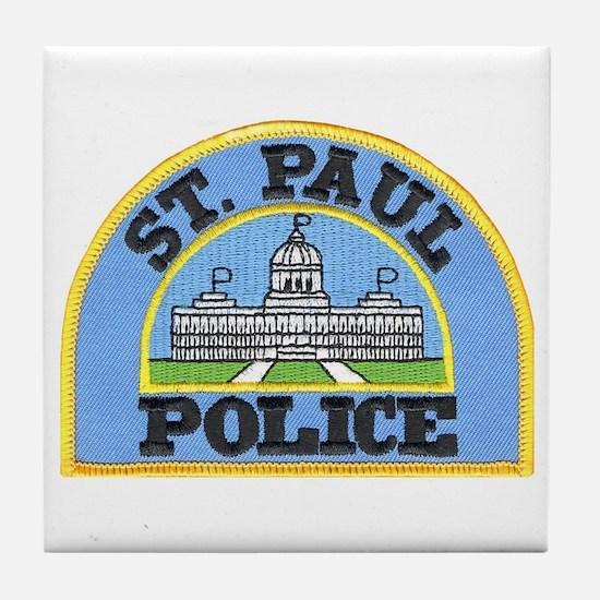 Saint Paul Police Tile Coaster