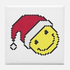 Christmas smiling face Tile Coaster