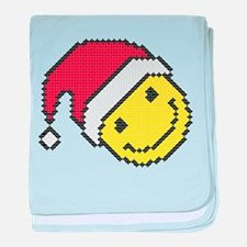Christmas smiling face baby blanket