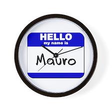 hello my name is mauro  Wall Clock