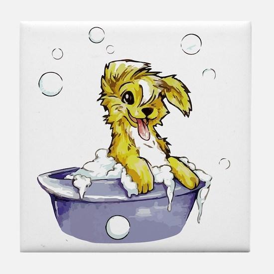 Doggie Dog Wash Tile Coaster