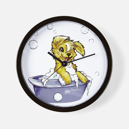 Doggie Dog Wash Wall Clock