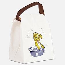 Doggie Dog Wash Canvas Lunch Bag