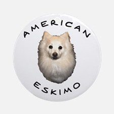American Eskimo Ornament (Round)