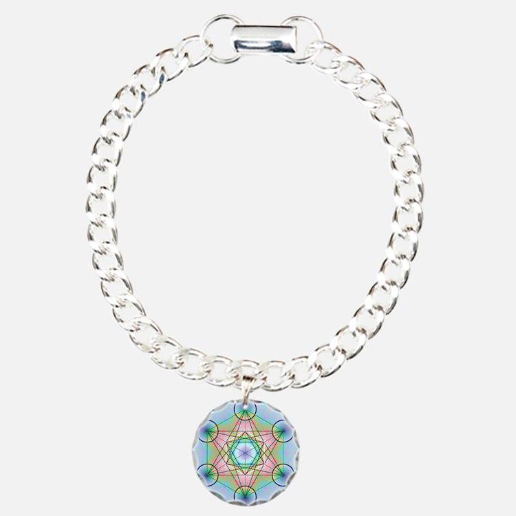 Metatron's Cube Rainbow Bracelet