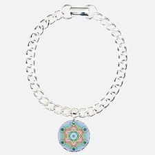 Metatron's Cube Rainbow Charm Bracelet, One Charm