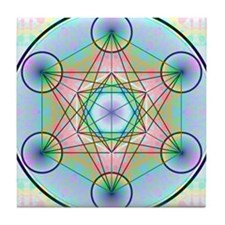 Metatron's Cube Rainbow Tile Coaster