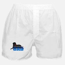 Black Labrador Retriever Dad Boxer Shorts