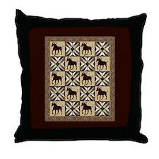 Mtn Horse Throw Pillow