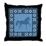 Gaited Horse Blu Throw Pillow
