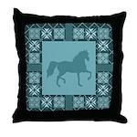 Gaited Horse Turq Throw Pillow