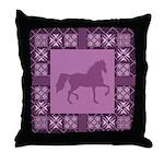 Gaited Horse Fush Throw Pillow