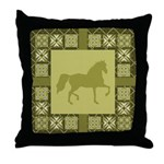 Gaited Horse Gold Throw Pillow