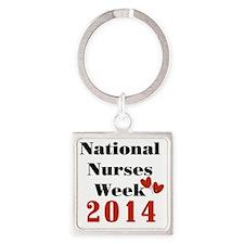 National Nurses Week 2014 Square Keychain