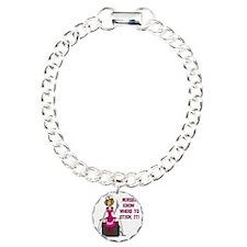Nurses Know Where to Sti Charm Bracelet, One Charm