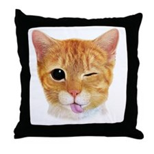Miley's Giant Cat Throw Pillow