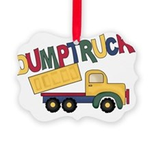 Dumptruck Picture Ornament