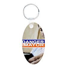 Carlos Danger for Mayor Aluminum Oval Keychain