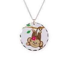 Girl Monkey Swinging From Br Necklace
