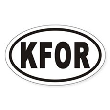 KFOR Oval Decal