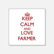 Keep calm and love Farmer Sticker
