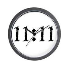1111 Black.Png Wall Clock