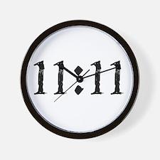1111 Black.Png Wall Clock