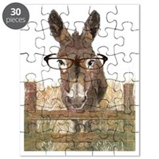 Humorous Smart Ass Donkey Painting Puzzle