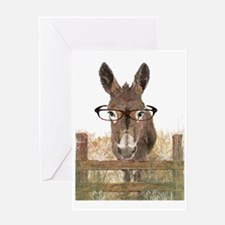 Humorous Smart Ass Donkey Painting Greeting Card