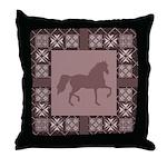 Gaited Horse Brown Throw Pillow