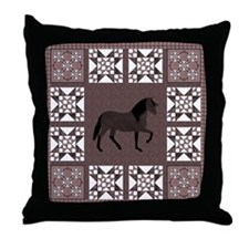 Peruvian Paso Brown Throw Pillow