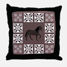 Peruvian Paso Brown Throw Pillow