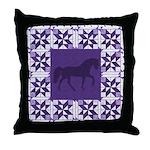 Racking Horse PPL Throw Pillow