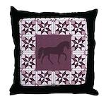 Racking Horse Mauve Throw Pillow