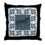 Racking Horse Teal Throw Pillow