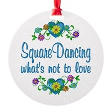 Square Dancing to Love Ornament