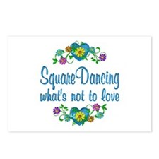 Square Dancing to Love Postcards (Package of 8)