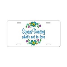 Square Dancing to Love Aluminum License Plate