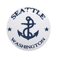 seattle-anchor-LTT Round Ornament