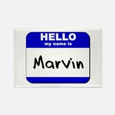 hello my name is marvin Rectangle Magnet
