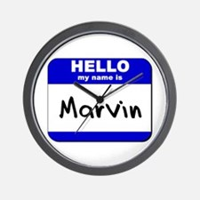 hello my name is marvin  Wall Clock