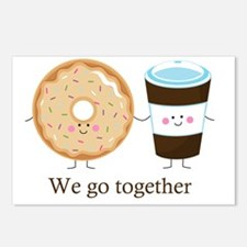 We go together like coffe Postcards (Package of 8)