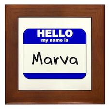 hello my name is marva  Framed Tile